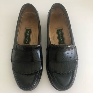 COLE HAAN Mens Leather Dress Loafers Black Sz 8